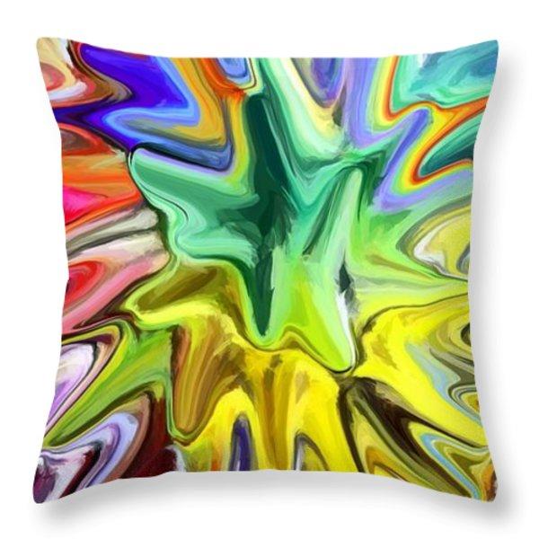 Fireworks Throw Pillow by Chris Butler