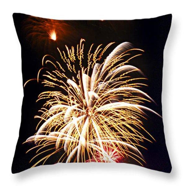 Fireworks Throw Pillow by Elena Elisseeva