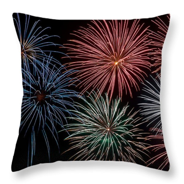 Fireworks Extravaganza 4 Throw Pillow by Steve Purnell