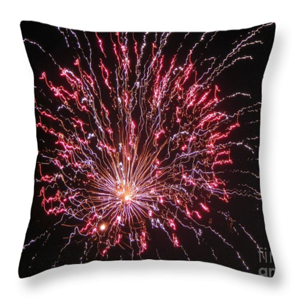 Fireworks For All Throw Pillow by Terry Weaver