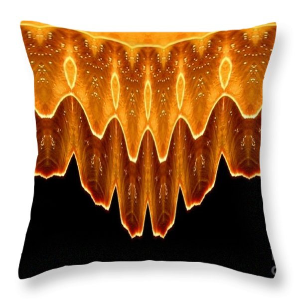 Fireworks Melting Abstract Throw Pillow by Rose Santuci-Sofranko
