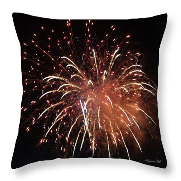 Fireworks Series XV Throw Pillow by Suzanne Gaff
