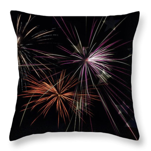 Fireworks With Pride Throw Pillow by Christina Rollo