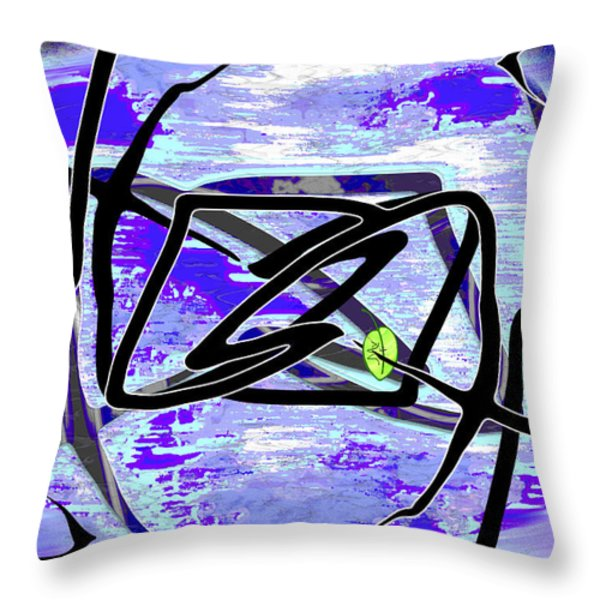 Firmament Cracked #4 - Entrapment Throw Pillow by Mathilde Vhargon