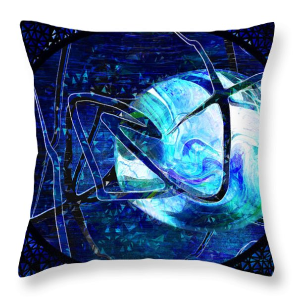 Firmament Cracked - #8 Rear Window Throw Pillow by Mathilde Vhargon
