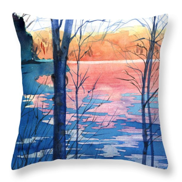 First Ice Throw Pillow by Kris Parins