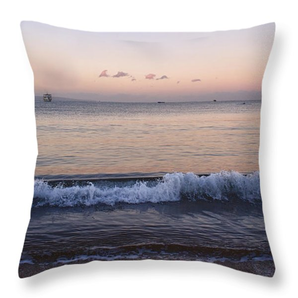 First Light On Ma'alaea Bay Throw Pillow by Trever Miller