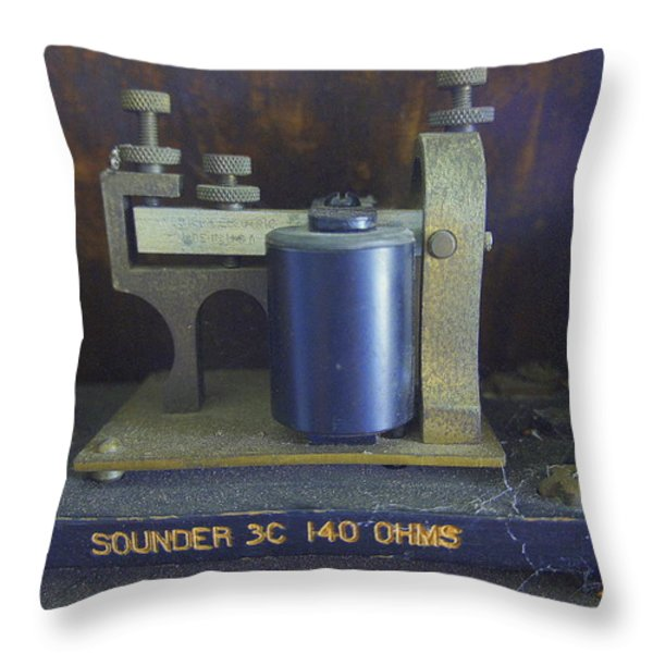 First Messenger Throw Pillow by Laurie Perry