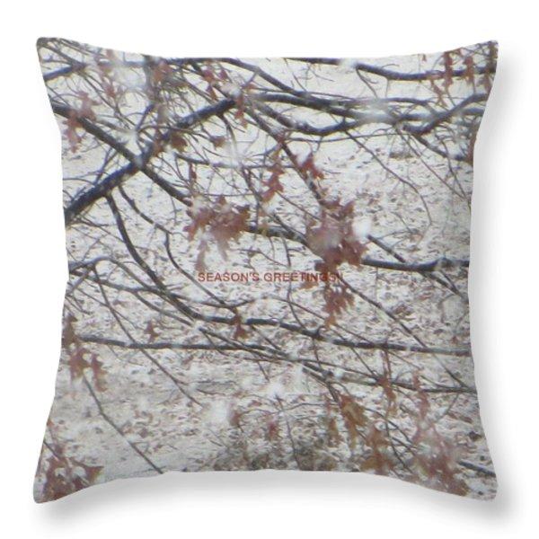 First Snowfall  Throw Pillow by Sonali Gangane