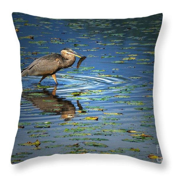 Fish For Dinner Throw Pillow by Sharon  Talson