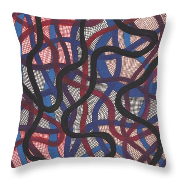Fish Net Design Throw Pillow by Barbara St Jean