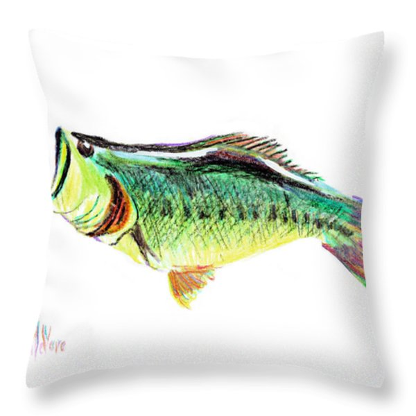 Fishermans Delight Throw Pillow by Kip DeVore