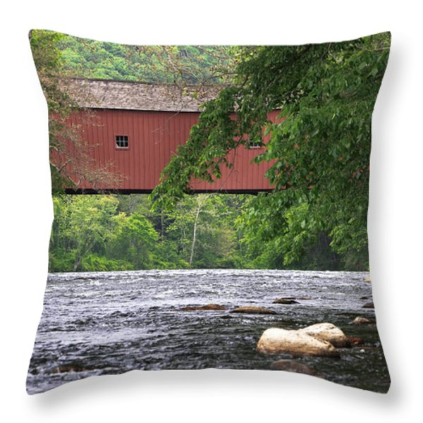 Fishin Throw Pillow by Bill  Wakeley