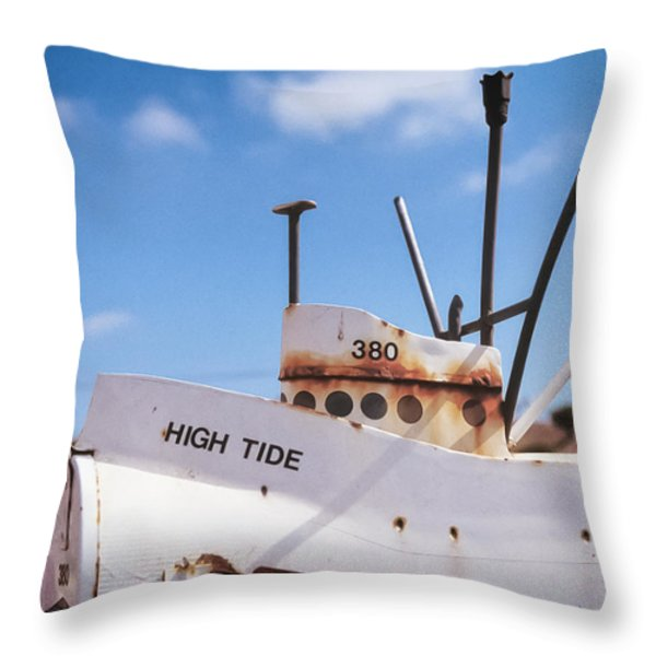 Fishing For A Card Throw Pillow by Caitlyn  Grasso