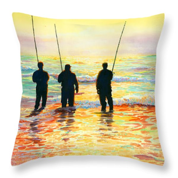 Fishing Line Throw Pillow by Marguerite Chadwick-Juner