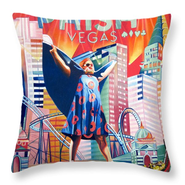 Fishman In Vegas Throw Pillow by Joshua Morton