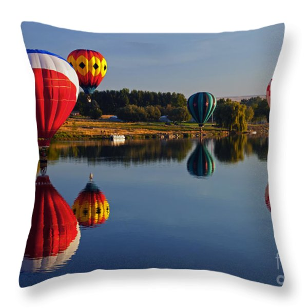Five Aloft Throw Pillow by Mike  Dawson