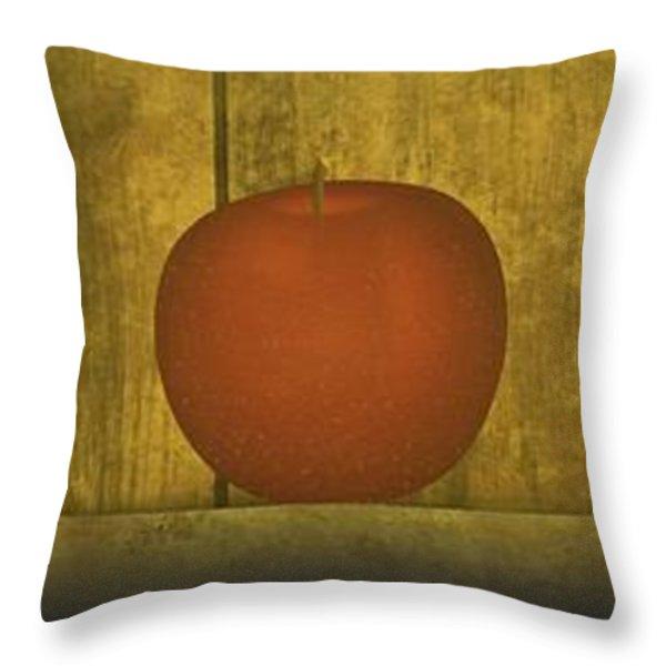 Five Apples  Throw Pillow by David Dehner