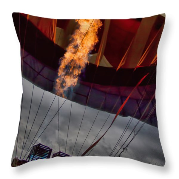 Flame On Two Throw Pillow by Bob Orsillo