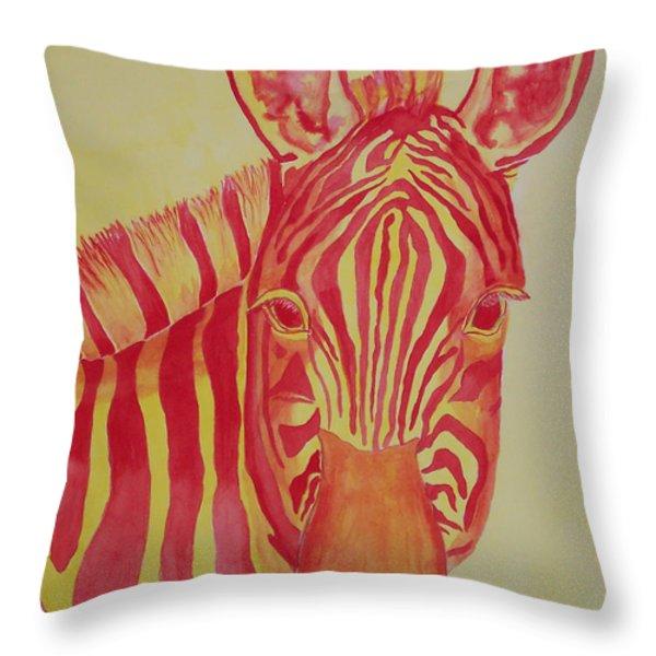Flame Throw Pillow by Rhonda Leonard