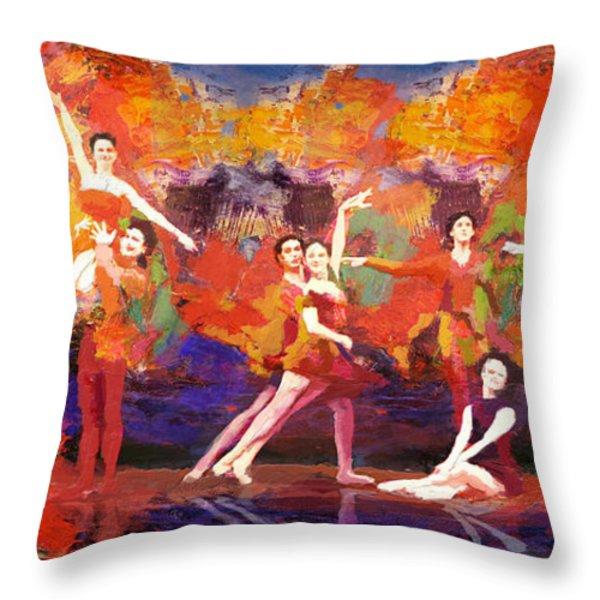 Flamenco Dancer 022 Throw Pillow by Catf