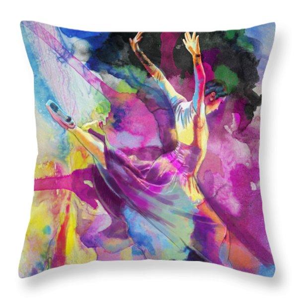 Flamenco Dancer Throw Pillow by Catf