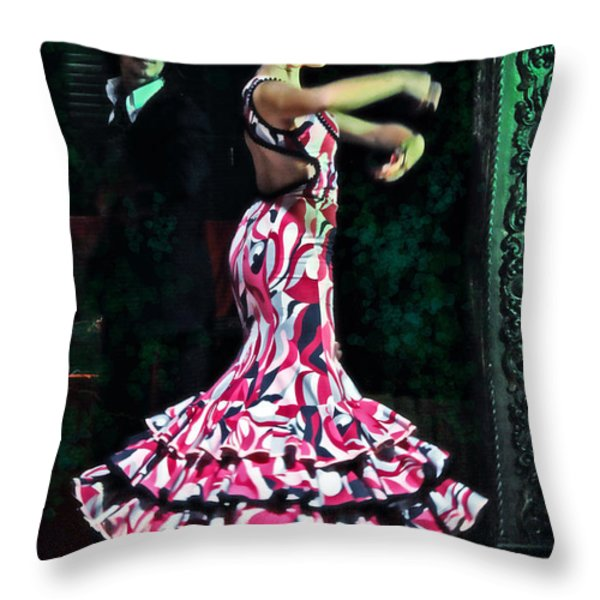 Flamenco Series No. 10 Throw Pillow by Mary Machare
