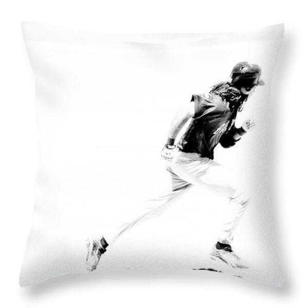 Flash Throw Pillow by Karol  Livote