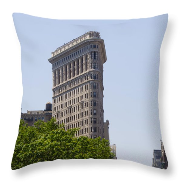 Flat Iron Building Throw Pillow by Bill Cannon