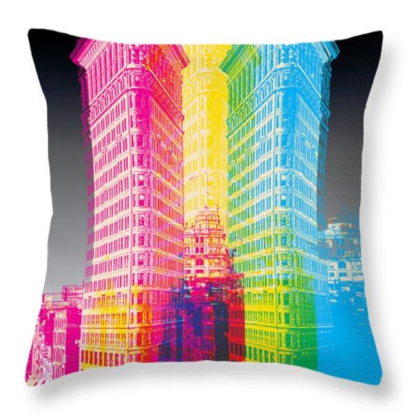 Flat Iron POP Art Throw Pillow by Gary Grayson
