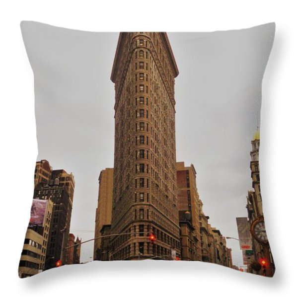 Flatiron Throw Pillow by Benjamin Yeager