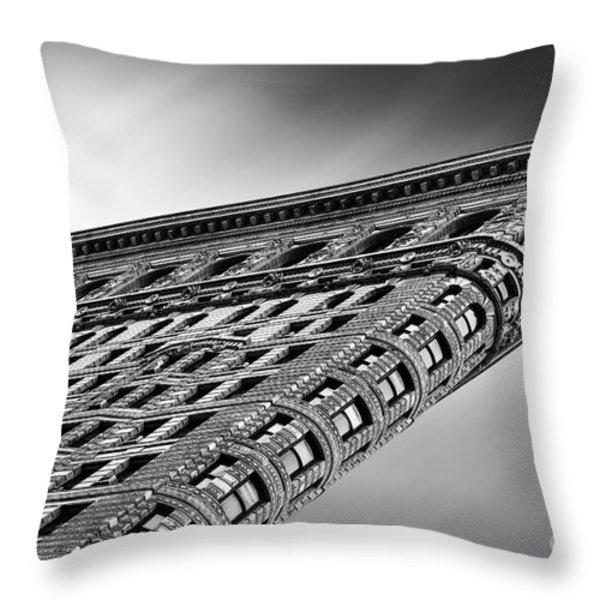 Flatiron Building NYC Throw Pillow by John Farnan