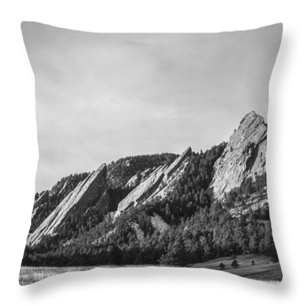 Flatirons B W Throw Pillow by Aaron Spong