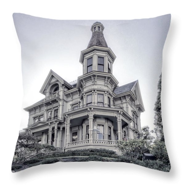 FLAVEL VICTORIAN HOME Throw Pillow by Daniel Hagerman