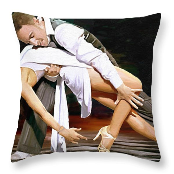 Flavia And Vincent Throw Pillow by James Shepherd