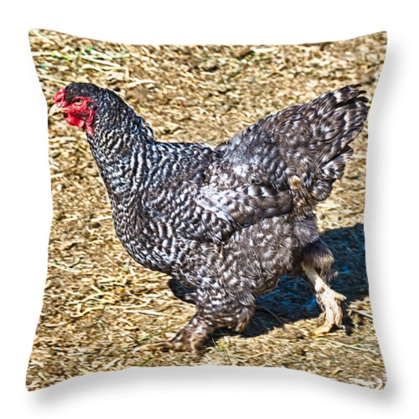 Fleeing From The Colonel ? Throw Pillow by  Bob and Nadine Johnston