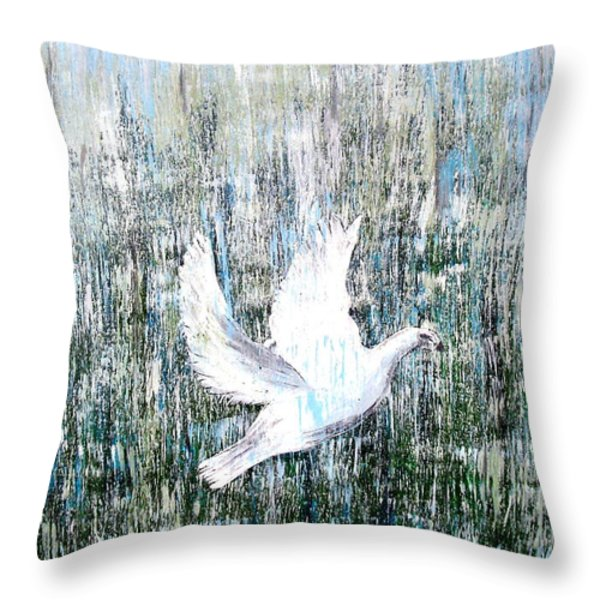 Flight Against Odds Throw Pillow by Karunita Kapoor