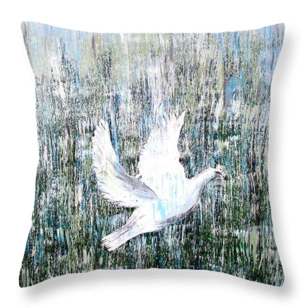 Flight Against Odds Throw Pillow by Karunita Kapoor