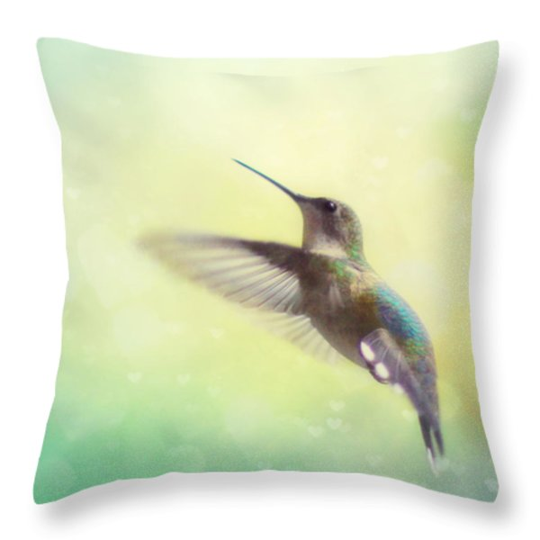 Flight Of Fancy Throw Pillow by Amy Tyler
