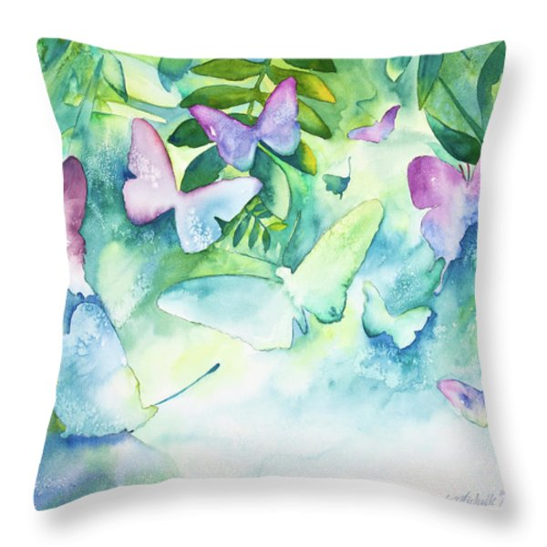Flight Of The Butterflies Throw Pillow by Michelle Wiarda