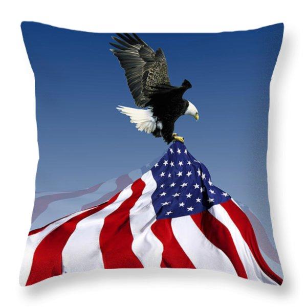 Flight To Freedom Throw Pillow by Filippo B