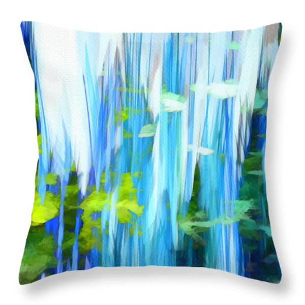 Float 1 Throw Pillow by Angelina Vick