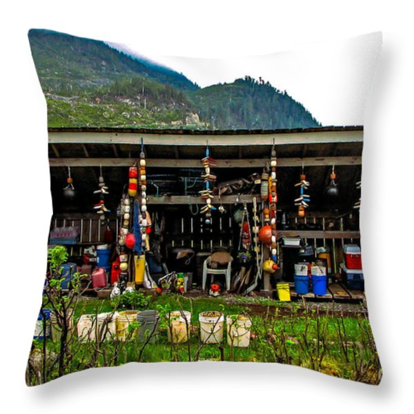 Float House Throw Pillow by Robert Bales