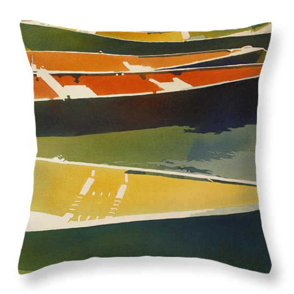 Floaters Throw Pillow by Kris Parins