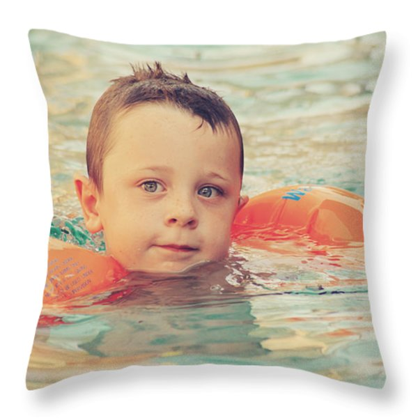 Floaties Throw Pillow by Laurie Search
