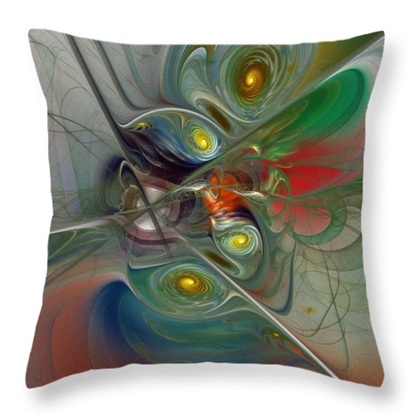 Floating Lightness-Abstract Art Throw Pillow by Karin Kuhlmann