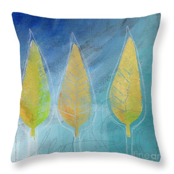 Floating Throw Pillow by Linda Woods