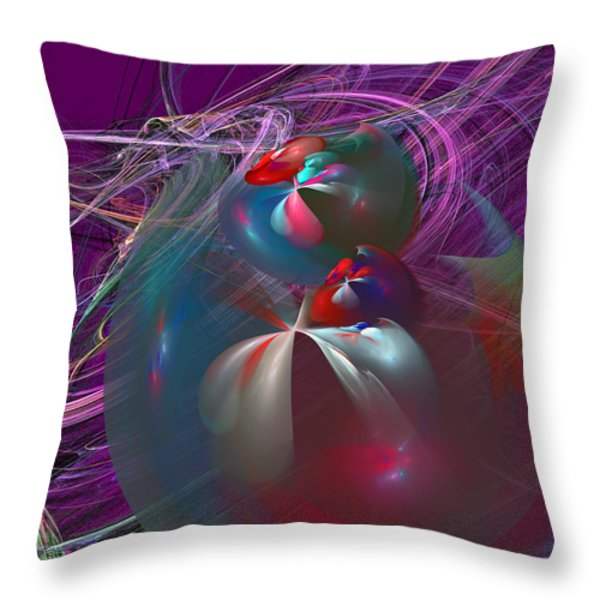 Floating Throw Pillow by Michael Durst