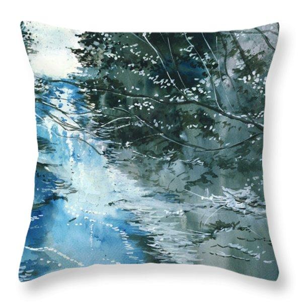 Floods 3 Throw Pillow by Anil Nene