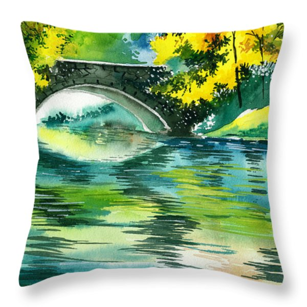 Floods R Throw Pillow by Anil Nene